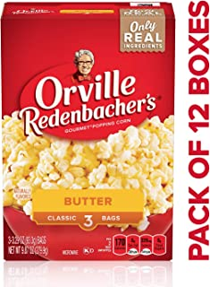 product image for Orville Redenbacher's Butter Popcorn, Classic Bag, 3 Count per Box, 9.87 Oz, Pack of 12