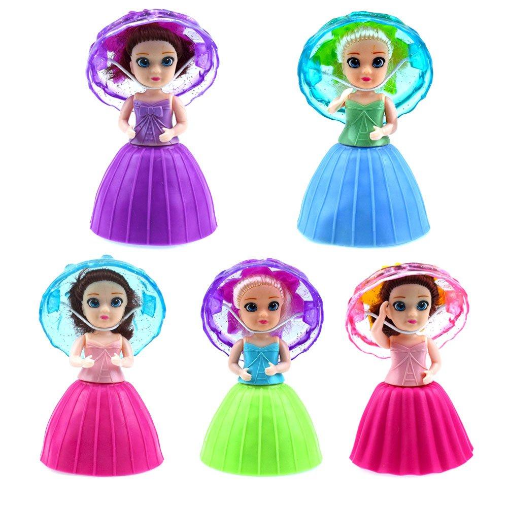 OUYAWEI 1pc Surprise Cupcake Princess Doll Deformable Dolls Girl Birthday Gift Cake Toys