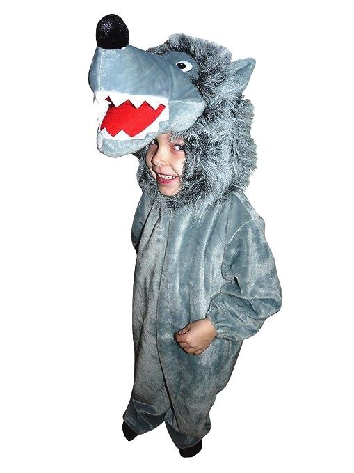 69f2c1d37ee3 F49 Taglia 2-3A (92-98cm) Costume da Lupo per bambini e neonati ...