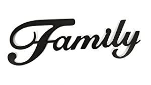 Family Black Metal Wall Word