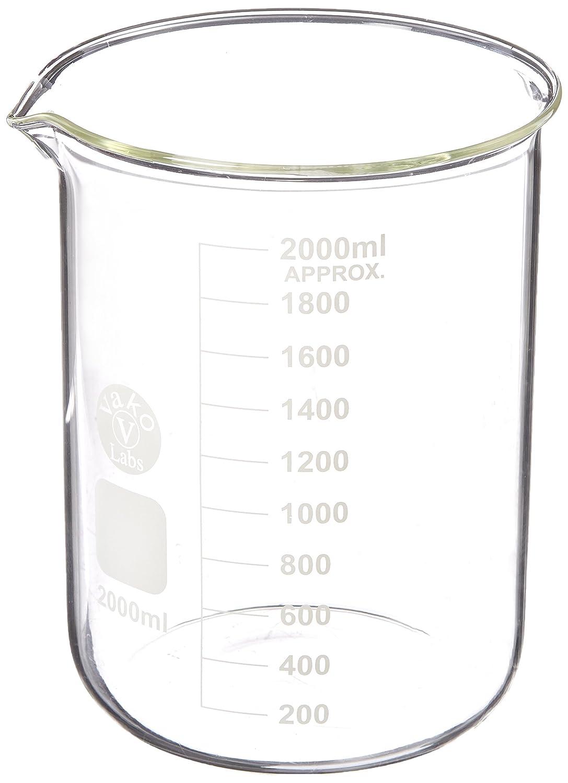 Ajax Scientific Borosilicate Glass Graduated Beaker, 2L GL010-2000
