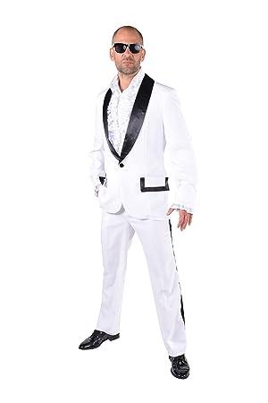 Prom Tuxedo / Wedding Singer 70's/80's- White/Black , Small: Amazon