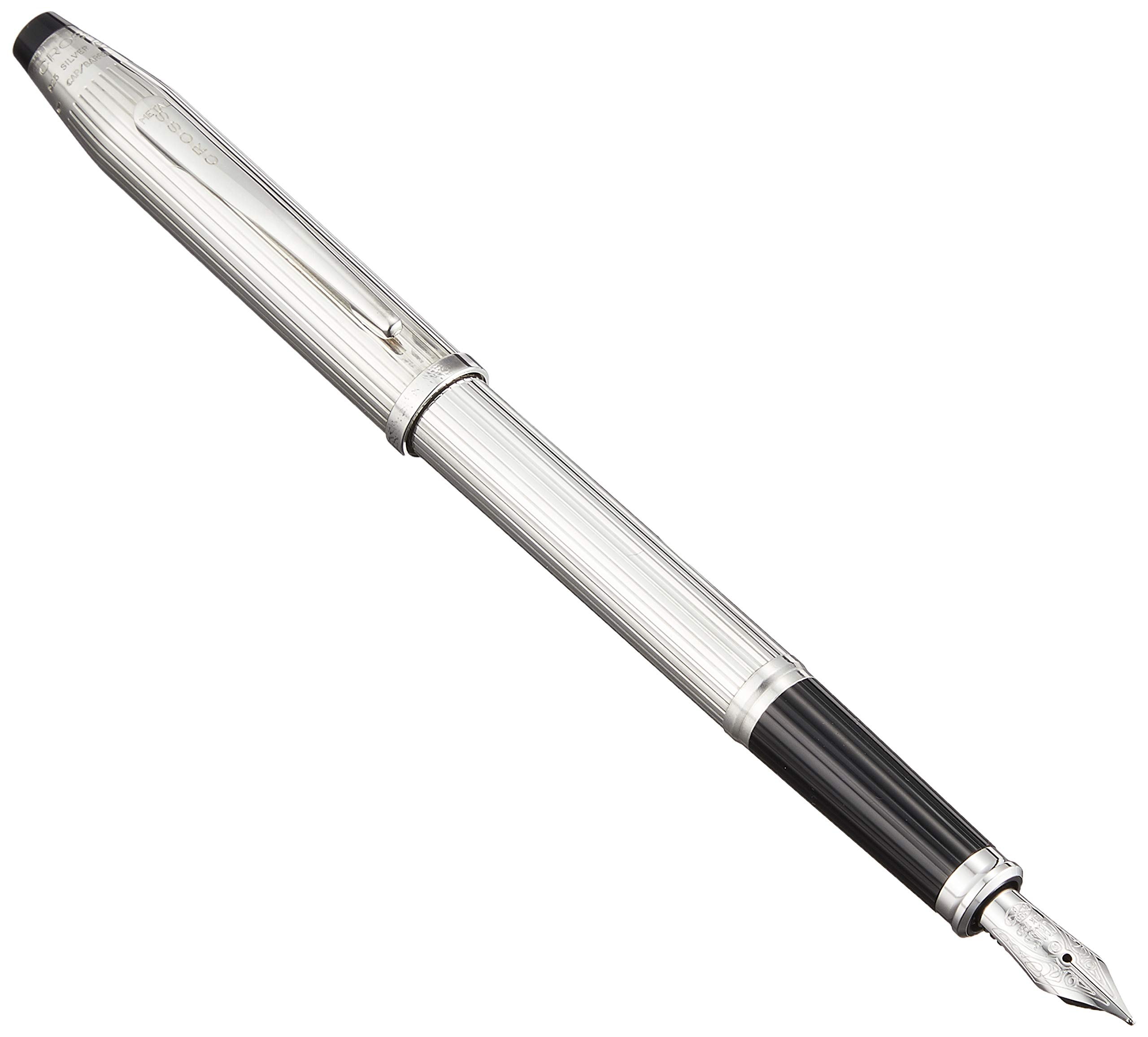 Cross Century II Sterling Silver Fountain Pen with Fine Nib (HN3009-FY) by Cross (Image #1)