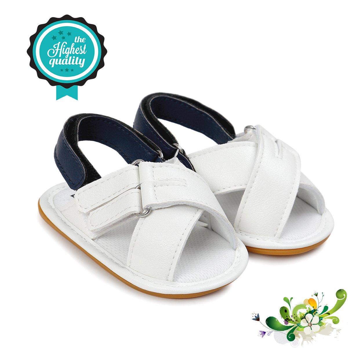 Precioso Zapatos de Bebé, Morbuy Unisexo Zapatos Bebe Primeros Pasos Verano Recién nacido 0-18 Mes Bebé Casual Verano Zapatos Suela Blanda Zapatillas Antideslizante Sandalias (11cm / 0-6meses, Blanco)