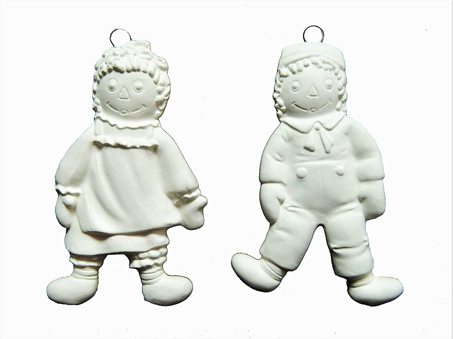 Amazon.com: Vintage Raggedy Ann & Andy Christmas Ornament - Ready to Paint Ceramic  Bisque - Hand Poured in The USA: Health & Personal Care