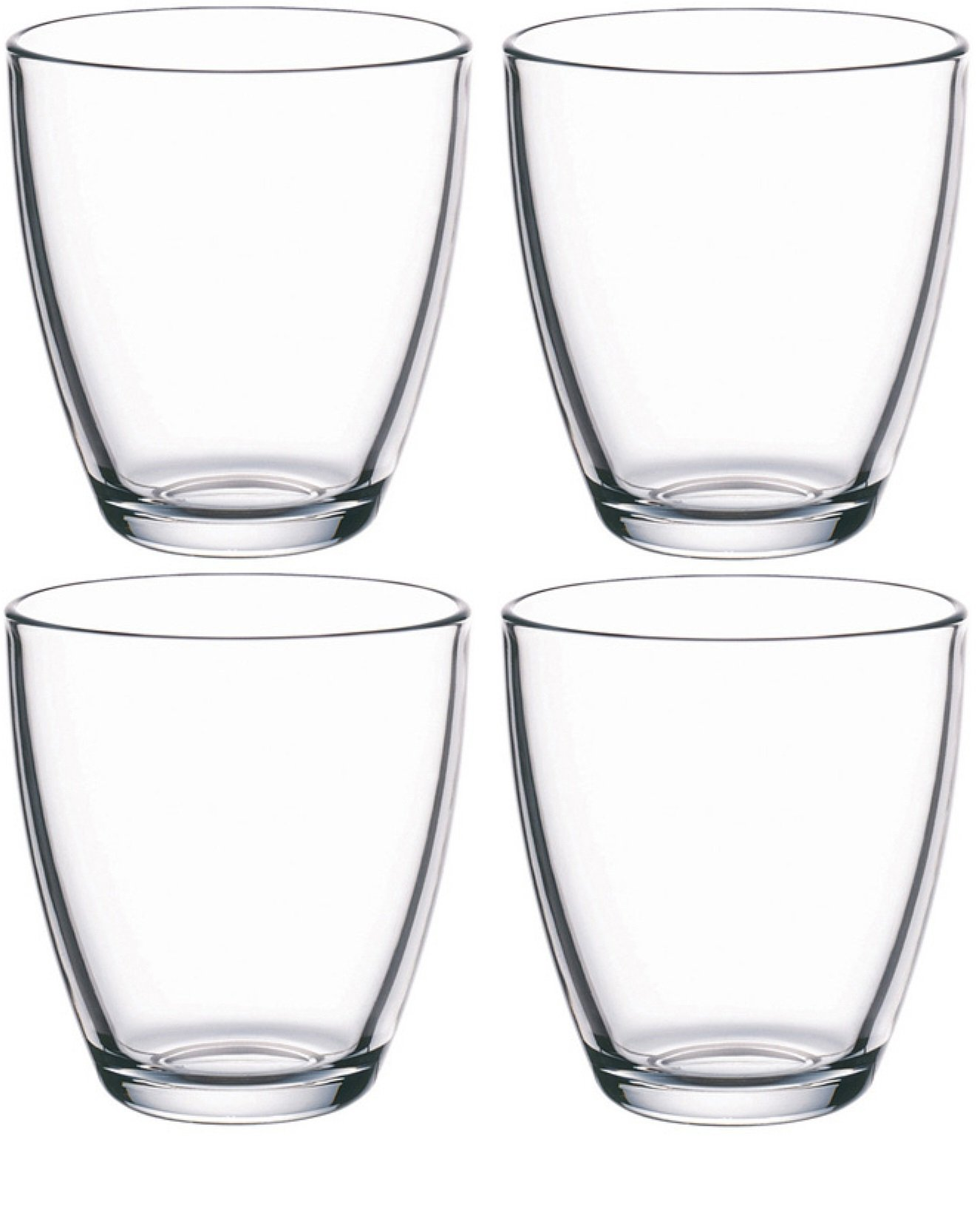 Circleware 44537 Smooth Whiskey, Set of 4, Kitchen Entertainment Dinnerware Drinking Glasses Glassware for Water, Juice, Beer and Bar Liquor Dining Decor Beverage Cups Gifts, 13 oz, Smooth4pc