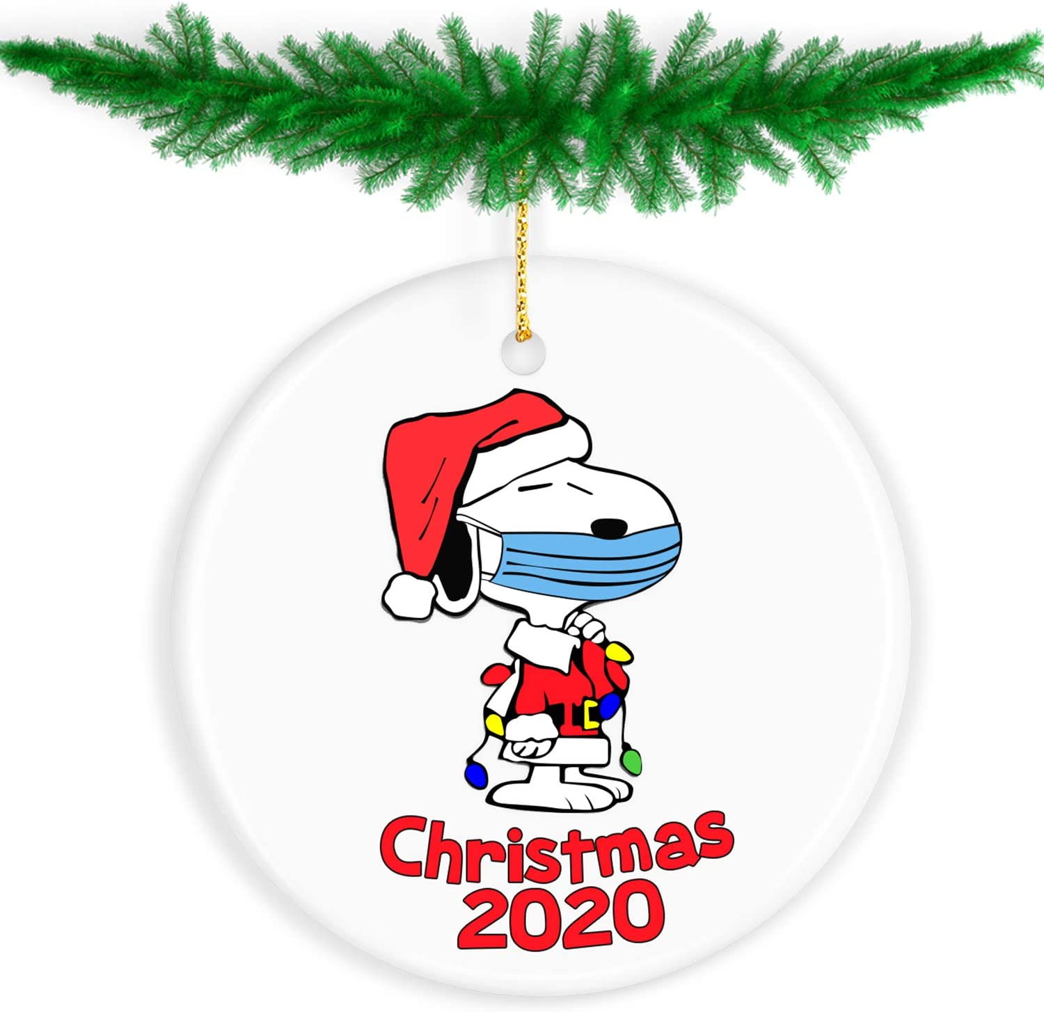 Firstlaw Fitness Christmas Decorations Clearance, Christmas Ornaments 2020 Christmas Ornament Quarantine Funny Home Decor Christmas Tree Decorations 2020 Ornament - Gifts for Christmas