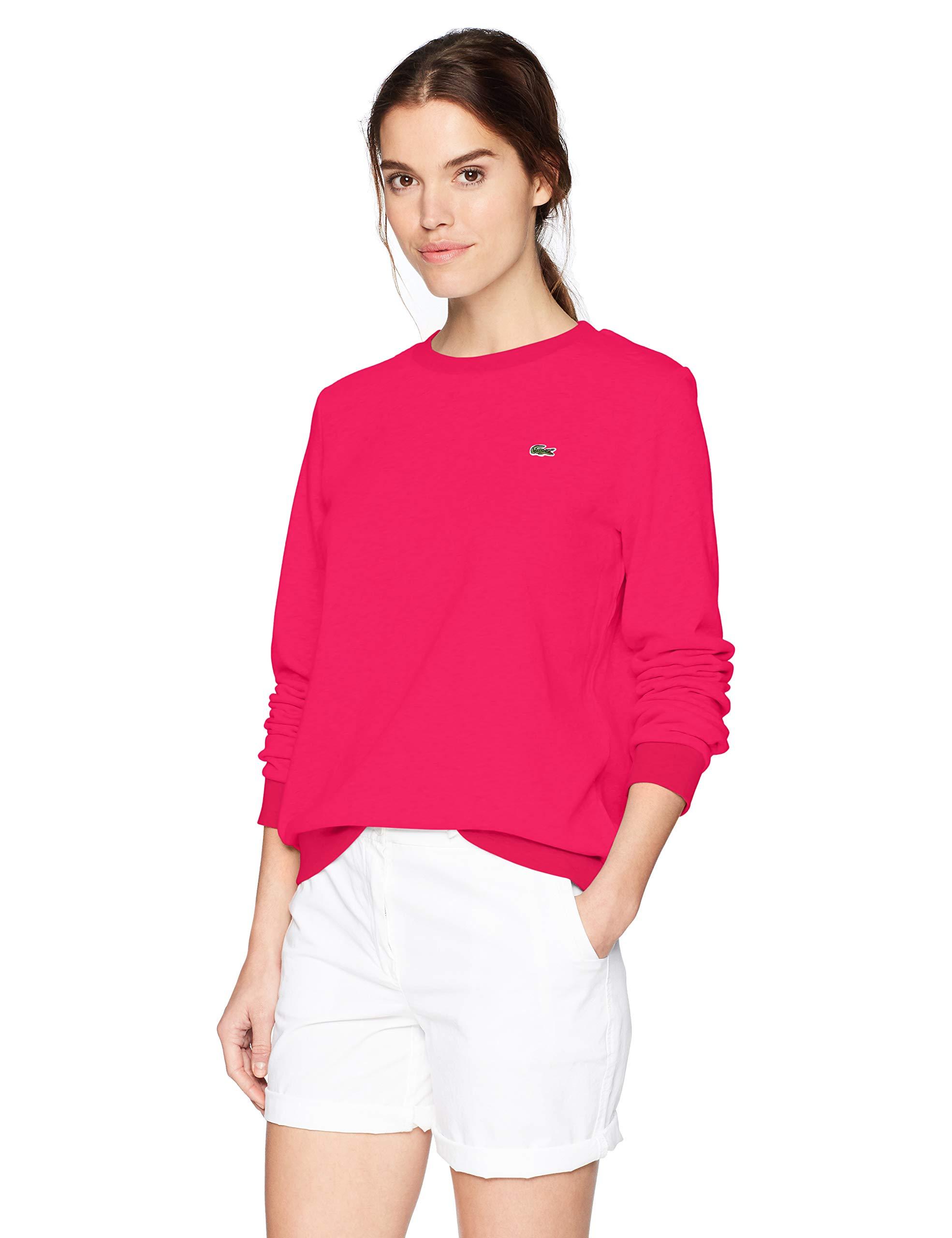 Lacoste Womens Sport Long Sleeve Fleece Crewneck Sweatshirt