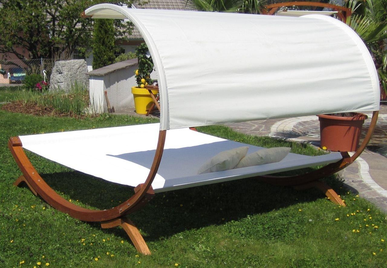 Gartenliege 2 personen dach  Amazon.de: XXL Sonnenliege Doppelliege Gartenliege Hängematte ...