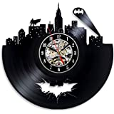 Batman Arkham City Logo Best Wall Clock - Decorate your home with Modern Large Superhero Art - Gift for friend, man and boy - Win a prize for a feedback