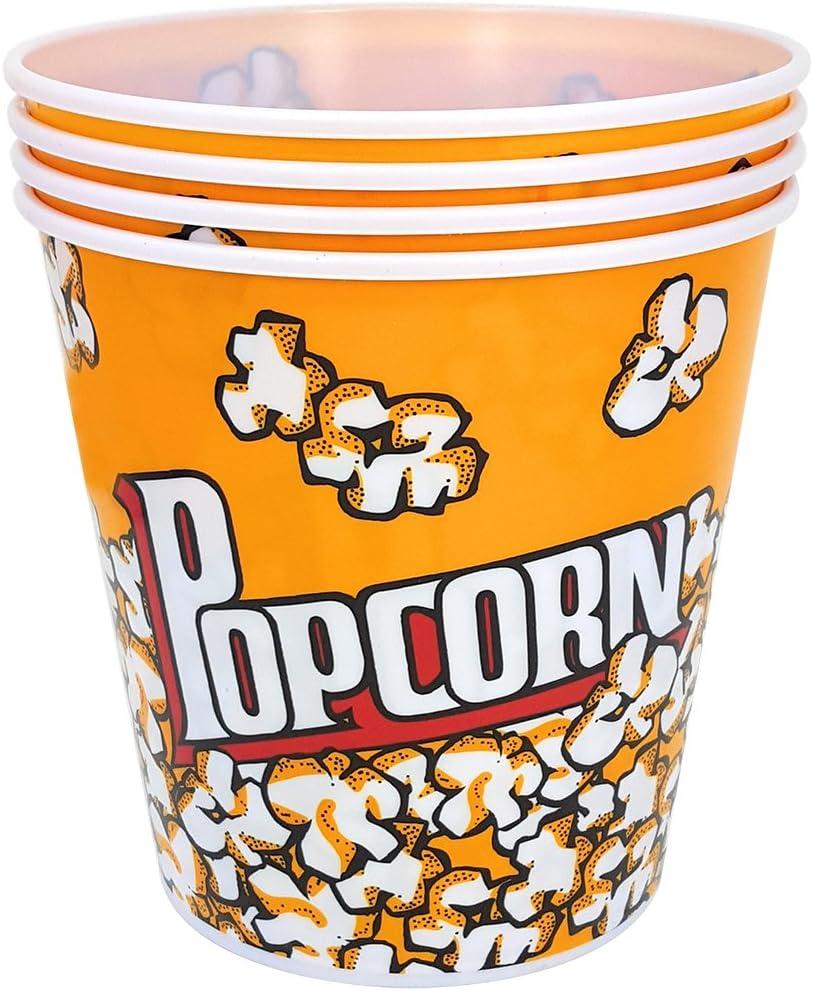 Les f/êtes Les Anniversaires denfants com-four/® 40x Sacs /à Pop-Corn Bo/îtes de Pop-Corn pour Les soir/ées cin/éma 40 pi/èces - Sac Sac de Snacking au Design Traditionnel