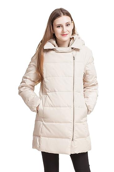 1bc2965dd Amazon.com: ADOMI Women's Thickened Down Jacket with Hood Beige XXXL ...