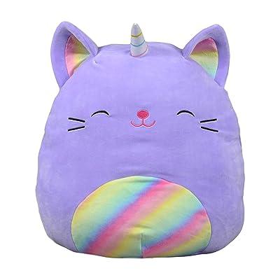Squishmallows Kellytoy Cienna The 16 Inch Purple Rainbow Caticorn Plush Stuffed Animal Pillow Pet: Home & Kitchen [5Bkhe1406232]