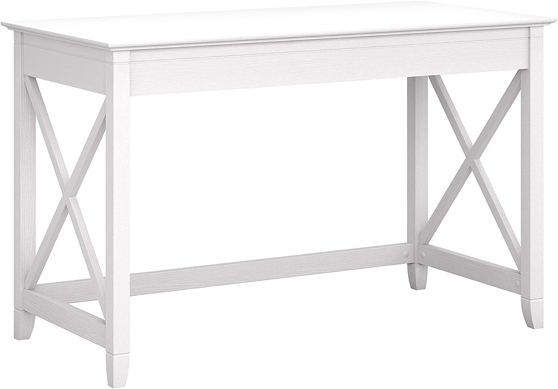 Bush Furniture Key West 48W Writing Desk, Pure White Oak