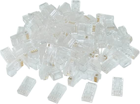 ACL Shielded Cat5e RJ45 Crimp Connectors//Plugs for Solid//Stranded Cable, 1 Pack 50 Pieces//Pack 8P8C