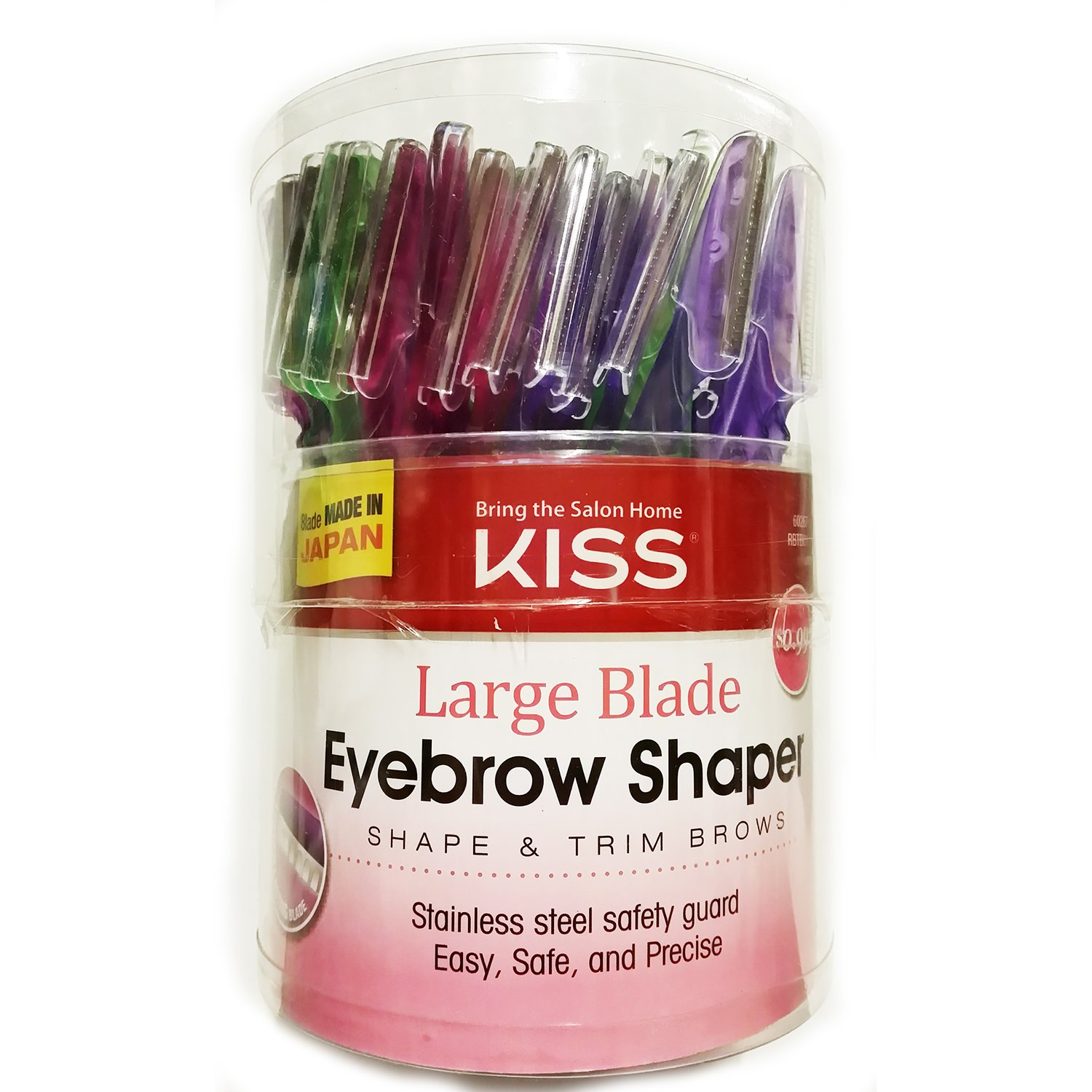 Kiss Large Blades Eyebrow Shaper 72pc by Kiss