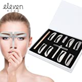 ELEVEN EVER Eyebrow Stencil Ruler kit -Includes 4 Group Eyebrow stencils and an Eyebrow Pencil Permanent Makeup Tools