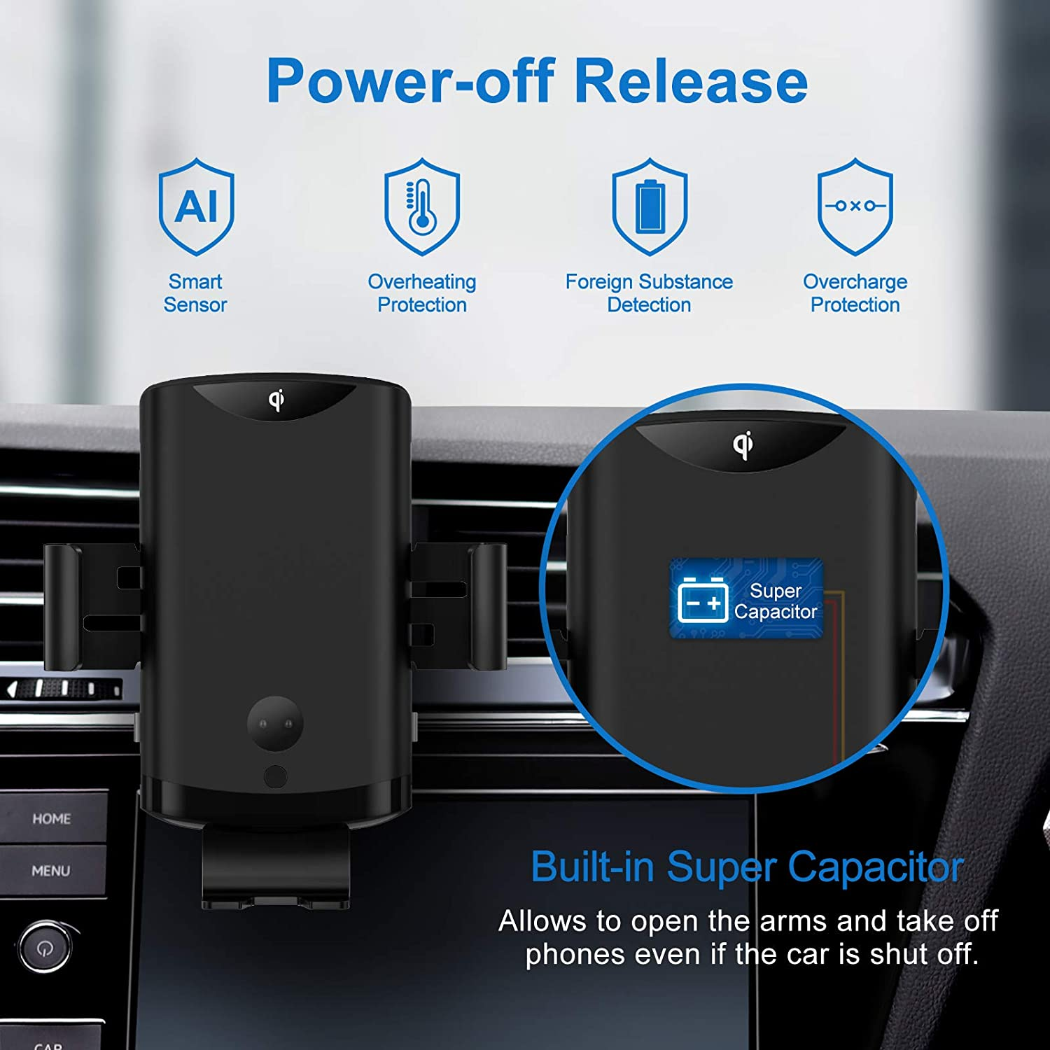 PLESON Max 15W Wireless Car Charger Mount /& 36W QC3.0 Car Charger iPhone 12//11 Pro Max//XR Qi Fast Charging Auto-Clamp Air Vent Car Phone Holder Compatible with Galaxy S20 Ultra//S10+//Note 10+//S8+ LG