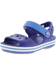 ad4e85bdb6c Crocs Kids Unisex Crocband Sandal (Toddler Little Kid) Cerulean Blue Ocean 8