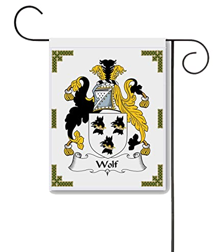 Amazon.com: Wolf escudo de armas/Wolf escudo de familia 11 x ...