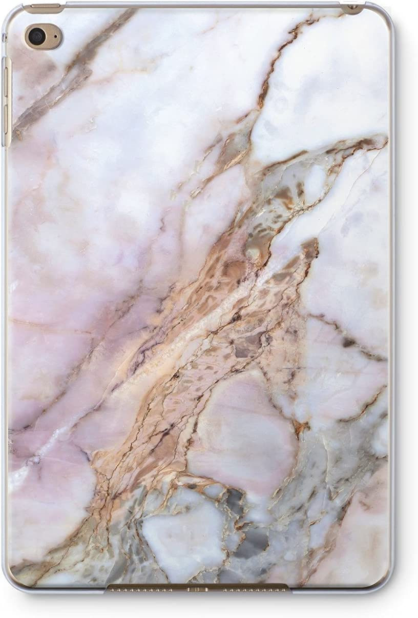 iPad Pro 12.9 2017 GoodMoodCases Ultra Slim Plastic Protective Back Cover Case Pink Marble