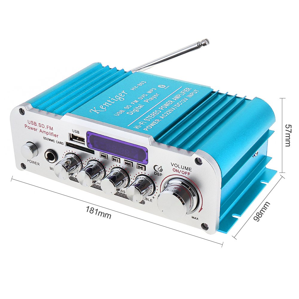 Amazon.com: CAIRUTE Mini USB SD FM DVD MP3 Digital Player Car ...