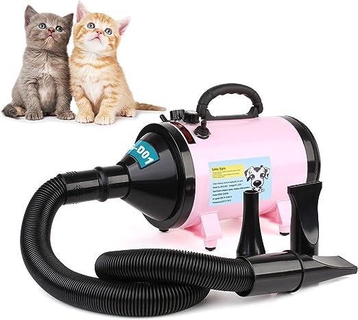 MVPOWER Secador Profesional para Pelo Perros Gatos Animales 2800W Temperatura Velocidad Ajustable Estándar Europeo: Amazon.es: Hogar