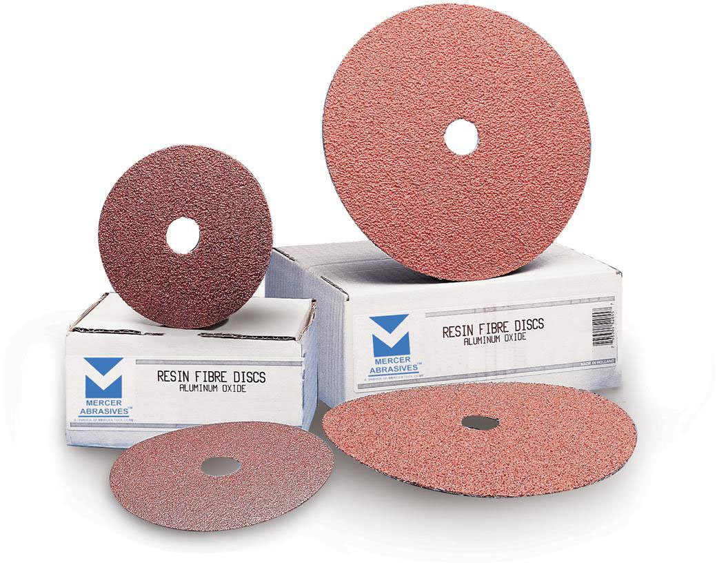 Mercer Abrasives 305050-25 9-1/8-Inch by 7/8-Inch Aluminum Oxide Resin Fibre Discs, 50 Grit, 25-Pack