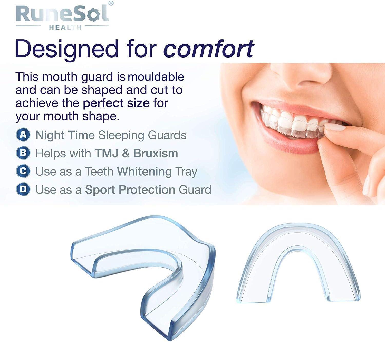 Zahnschutz für ZähneknirschenAufbissschienen gegen TMJ 4 x Aufbissschiene
