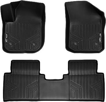 SMARTLINER Custom Fit Floor Mats 2nd Row Liner Black for 2016-2019 Buick Envision