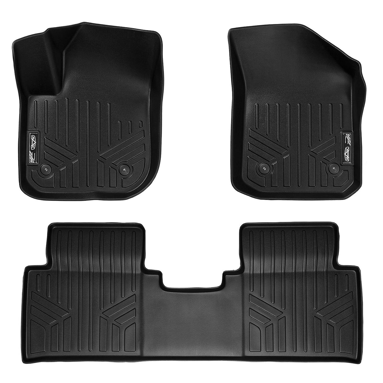 MAX LINER A0225//B0225 Custom Fit Floor Mats 2 Row Liner Set Black for 2016-2019 Buick Envision