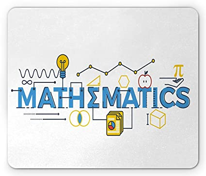 amazon com mathematics classroom mouse pad stylized mathematics