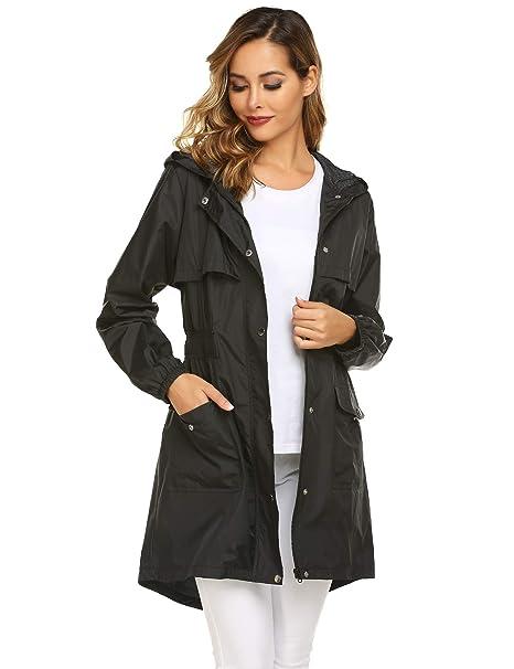 Amazon.com: Avoogue - Chubasquero ligero con capucha para ...