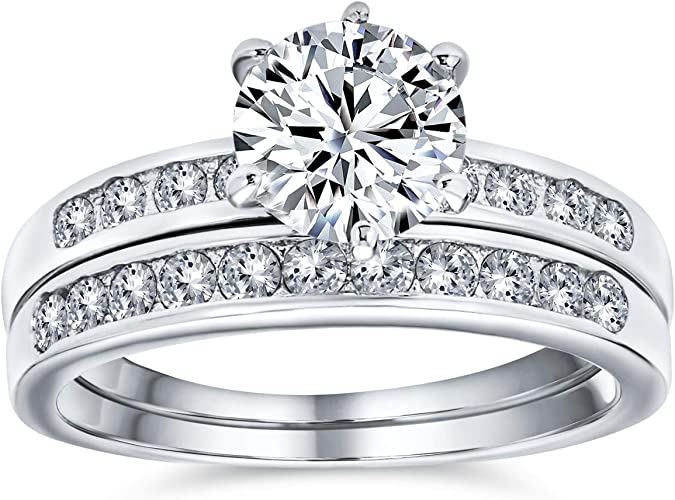 Stackable ring Simulated Diamond Ring Wedding Band Silver Plated Ring Gift For Her Women CZ Engagement Ring Sicily Ring Band