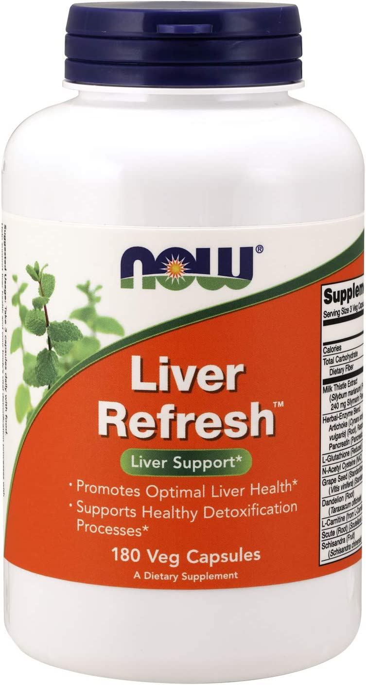 NOW Supplements, Liver Refresh with Milk Thistle Extract and unique Herb-Enzyme blend, 180 Veg Capsules: Health & Personal Care