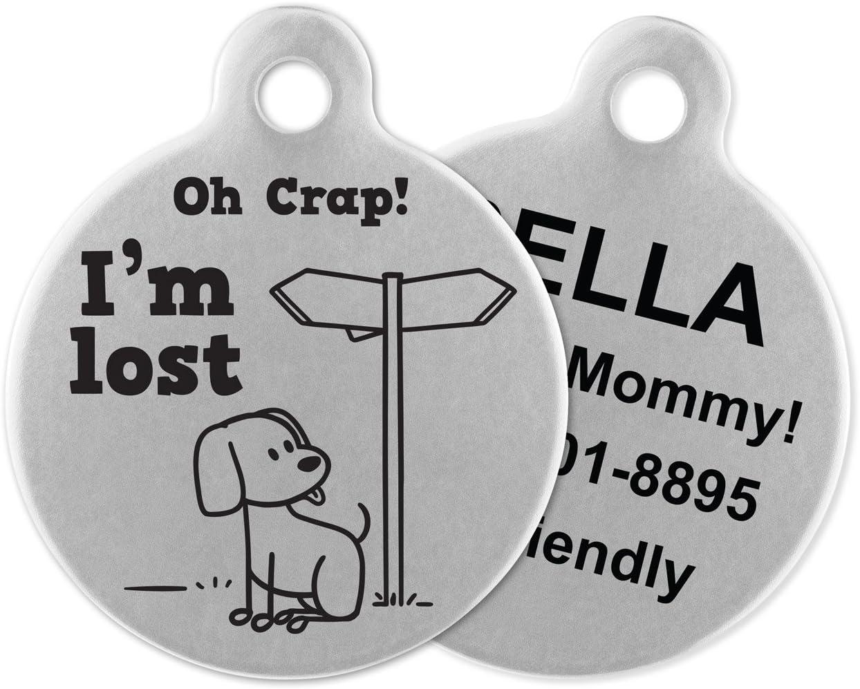 Personalised Pet ID Tag  Dog Tag  Pet name
