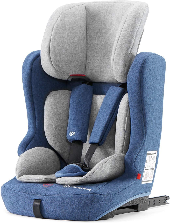 Blu Cinture Sicurezza Isofix 9-36 Kg Kinderkraft Seggiolino Auto FIX2GO Poggiatesta Regolabile Gruppo 1//2//3
