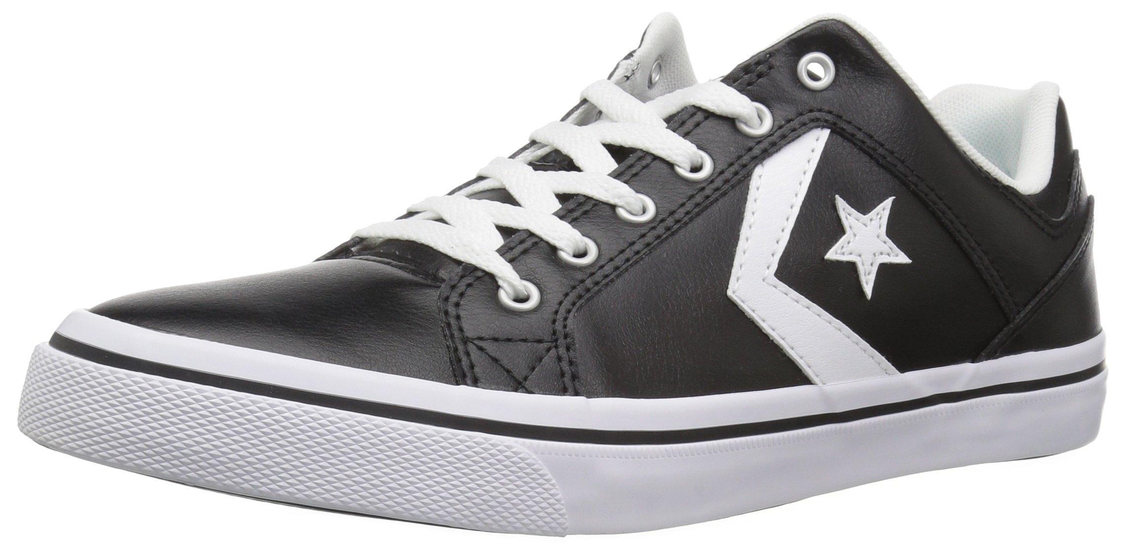Converse EL Distrito Leather Low Top Sneaker Black/White/Black Size 8 M US