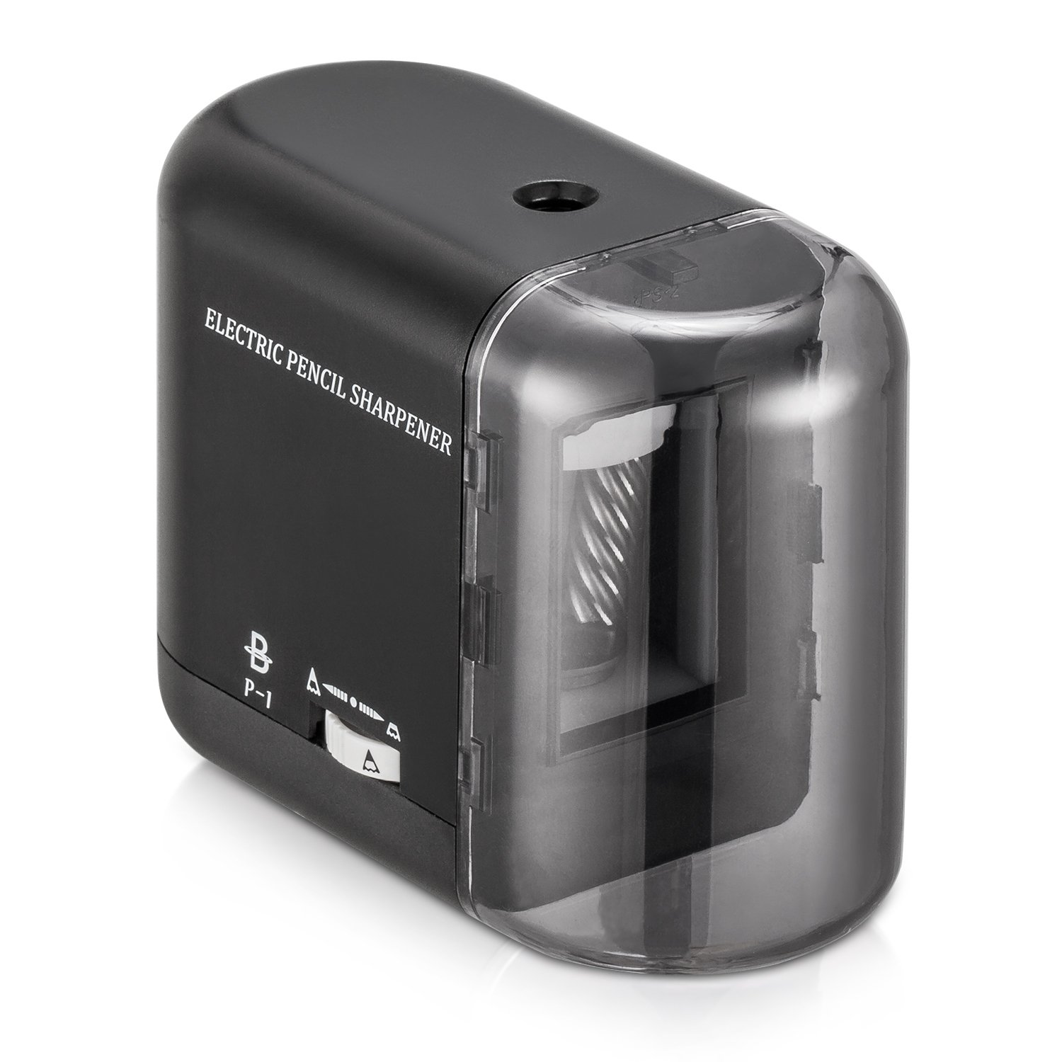 BOOCOSA Pencil Sharpener, BEST Heavy Duty Steel Blade, Electric Pencils Sharpener with Auto Stop for School Classroom Office Home – Precise Perfect Point Every time for Artists Kids Adults