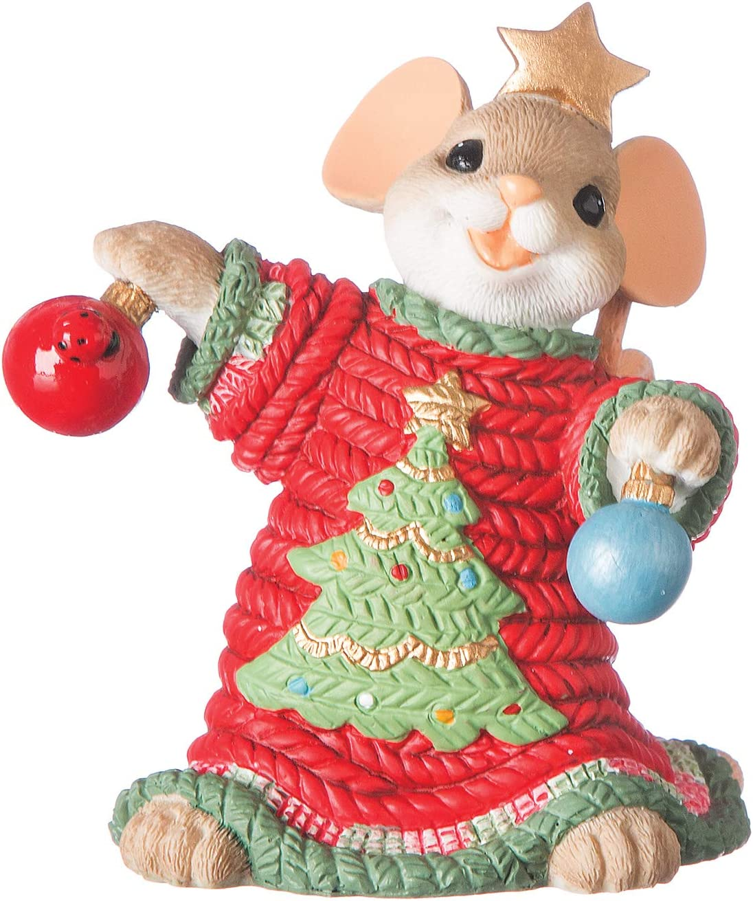 """Roman - Charming Tails Collection, Ugly Sweater Figure, 3"""" H, Resin and Stone, Durable, Collectibles, Cute Decorative Figurine, Home, Decor"""