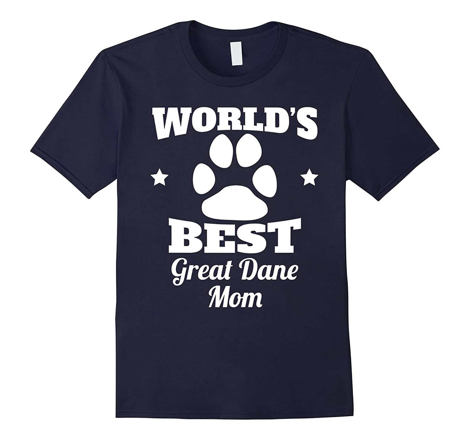 World's Best Great Dane Mom Dog Owner T-Shirt-Art