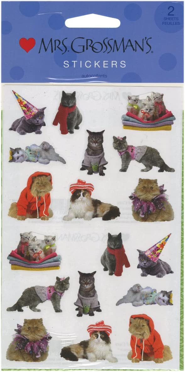 Mrs Grossmans Stickers-Pampered Cats