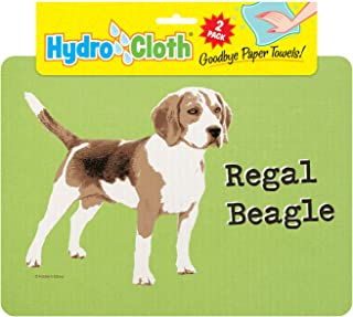 product image for Fiddler's Elbow Hydro Cloth Dog Breed Dishcloths | Set of 2 | Eco-Friendly Dish Cloths | Paper Towel Replacements (Beagle)
