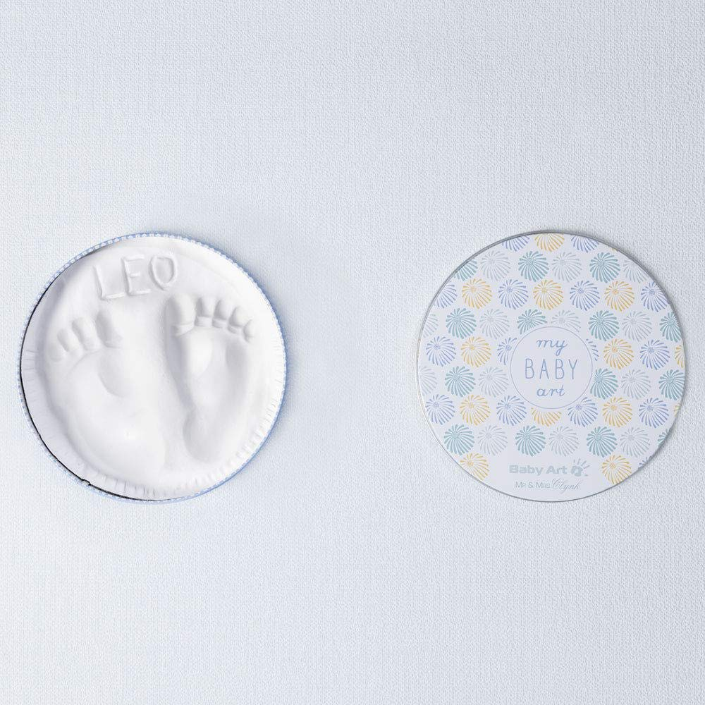 Baby Art Magic Box Round Fireworks Limited Edition Elegant Gift Box by French Designer Couple Mr Clynk Plaster Cast Baby Feet or Hands Craft /& Mrs