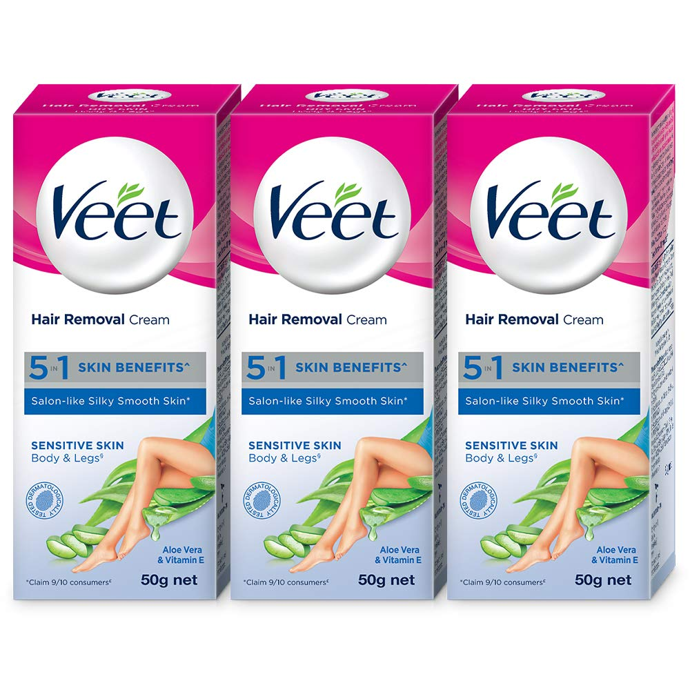 Veet Silk Fresh Hair Removal Cream Sensitive Skin 50 G Pack Of 3 Buy Online In Gibraltar Veet Products In Gibraltar See Prices Reviews And Free Delivery