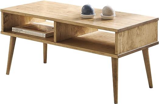 Hogar24-Mesa de Centro diseño Vintage, Madera Maciza Natural con ...