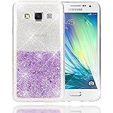 Samsung Galaxy A3 2015 Custodia Protezione di NICA, Glitter Silicone-Case Sottile Cover Protettiva per Cellulare, Ultra-Slim Copertura Rigida Bumper Sottile per Telefono A3-15, Colore:Argento Viola