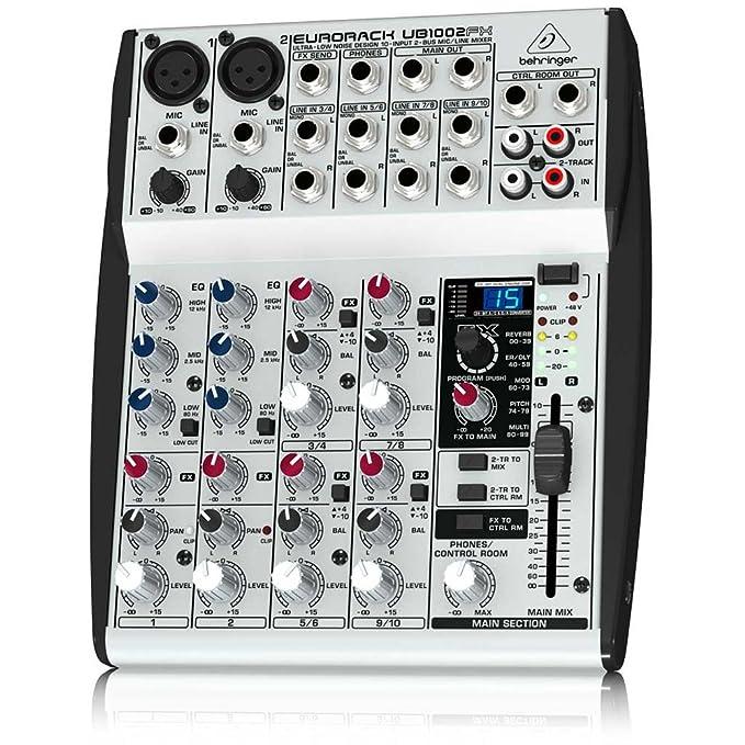 Behringer UB1002FX mezclador DJ - Mezclador para DJ (24-bit ...