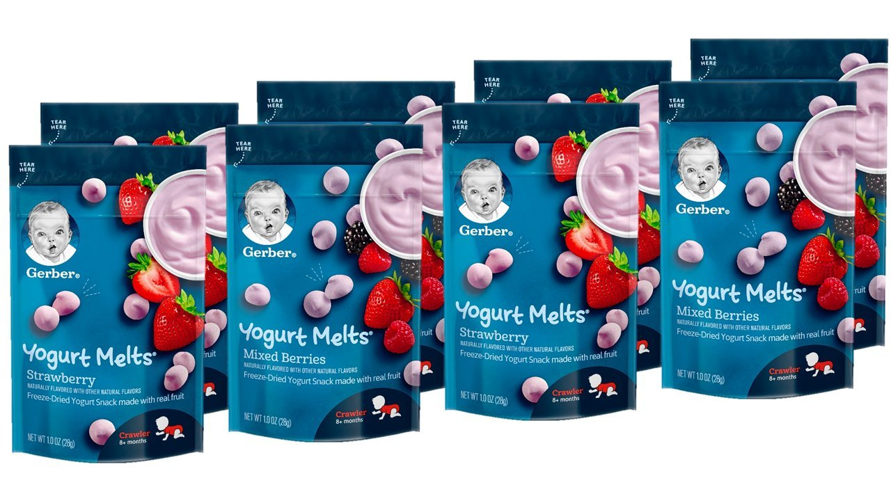 Gerber Graduates Yogurt Melts, Strawberry and Mixed Berry, 8 Count by Gerber