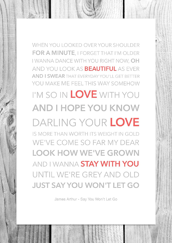 Say You Won\'t Let Go James Arthur Song Lyrics Vintage Dictionary ...